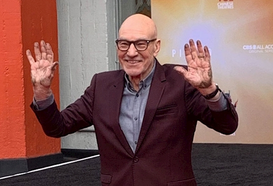 "Patrick Stewart Cements His Mark on Hollywood, Says STAR TREK: PICARD Is About ""Hope"""