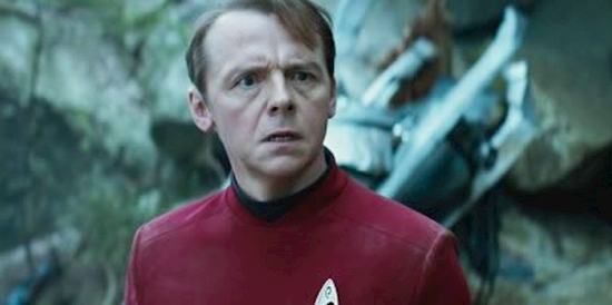 "Simon Pegg was ""irked"" over his Star Trek role"