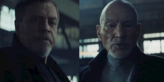 Patrick Stewart & Mark Hamill Face-Off In Bizarre Uber Eats Commercial